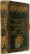 Books:Literature Pre-1900, Walter Thornbury, editor. Two Centuries of Song; Or Lyrics,Madrigals, Sonnets, and Other Occasional Verses of the Engli...