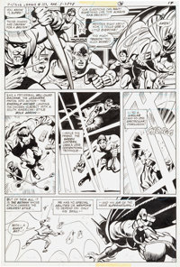 George Tuska and Frank McLaughlin Justice League of America #153 Page 10 Green Arrow, Flash, Batman and Others Ori