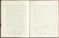 [Featured Lot]. [Pre-Raphaelites]. Helen Rossetti Angeli. Manuscript Notebook of Childhood Memories. [together with:]