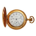 Timepieces:Pocket (post 1900), Waltham Gold Filled Hunter's Case Pocket Watch . ...