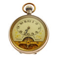 Timepieces:Pocket (post 1900), Ancre 8-Day Hebdomas Pocket Watch With Exposed Balance. ...