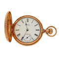 Timepieces:Pocket (pre 1900) , Waltham 14k Rose Gold 6 Size, circa 1888. ...