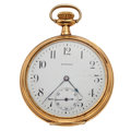 Timepieces:Pocket (post 1900), Howard 17 Jewels Gold Filled Pocket Watch. ...
