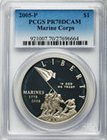 Modern Issues, 2005-P $1 Marine Corps PR70 Deep Cameo PCGS. PCGS Population (837). NGC Census: (2933). Numismedia Wsl. Price for problem ...