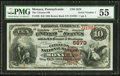 National Bank Notes:Pennsylvania, Monaca, PA - $10 1882 Brown Back Fr. 490 The Citizens NB Ch. #5879. ...