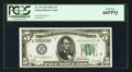 Small Size:Federal Reserve Notes, Fr. 1951-H $5 1928A Federal Reserve Note. PCGS Gem New 66PPQ.. ...