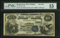 National Bank Notes:West Virginia, Morgantown, WV - $10 1882 Date Back Fr. 545 The Citizens NB Ch. #(S)5583. ...