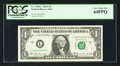 Solid 4 Serial Number Fr. 1904-L $1 1969A Federal Reserve Note. PCGS Very Choice New 64PPQ