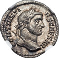 Ancients:Roman Imperial, Ancients: Constantius I, as Caesar (AD 305-306). AR argenteus(19mm, 3.22 gm, 12h)....