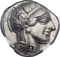 Ancients:Greek, Ancients: ATTICA. Athens. Ca. 454-404 BC. AR tetradrachm (25mm,17.19 gm, 10h)....