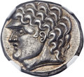 Ancients:Celtic, Ancients: DANUBE REGIION. Uncertain tribe. Ca. 100-50 B.C. ARtetradrachm, (24mm, 12.60 gm, 6h)....