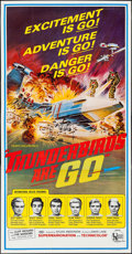 """Movie Posters:Science Fiction, Thunderbirds Are Go (United Artists, 1968). Three Sheet (41"""" X79""""). Science Fiction.. ..."""