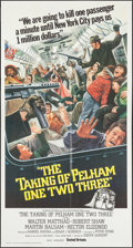 "Movie Posters:Crime, The Taking of Pelham One Two Three (United Artists, 1974). ThreeSheet (41"" X 81""). Crime.. ..."