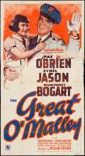 "Movie Posters:Crime, The Great O'Malley (Warner Brothers, 1937). Three Sheet (41"" X75.25""). Crime.. ..."