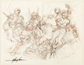 Original Comic Art:Miscellaneous, Mike Grell The Warlord Preliminary Original Art(undated)....