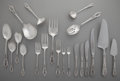 Silver Flatware, American:Wallace , A One Hundred-and-Sixteen Piece Wallace Rose Point PatternPartial Silver Flatware Service for Twelve, Wallingfo... (Total:116 Items)