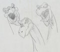 Animation Art:Concept Art, The Land Before Time Egg Stealers Concept Drawing Group of 3 (Sullivan-Bluth/Amblin, 1988).... (Total: 3 Original Art)