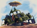 Animation Art:Concept Art, All Dogs Go to Heaven Junkyard Concept Painting (Amblin/Bluth, 1989)....