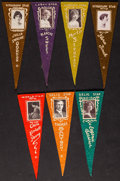 """Movie Posters:Miscellaneous, Vitagraph Studios & Others Lot (1915). Felt Pennants (7) (Approx, 3"""" X 8.5""""). Miscellaneous.. ... (Total: 7 Items)"""