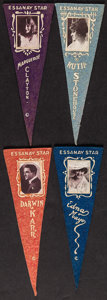"""Movie Posters:Miscellaneous, Essanay Studios (1915). Felt Pennants (4) (Approx. 3"""" X 8.5""""). Miscellaneous.. ... (Total: 4 Items)"""