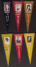 """Movie Posters:Miscellaneous, Universal Studios (1915). Felt Pennants (6) (Approx., 3"""" X 8.5""""). Miscellaneous.. ... (Total: 6 Items)"""