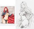 Original Comic Art:Splash Pages, C. Foulke and Mickey Ritter Goblin Queen Pin-Up Original ArtGroup of 2 (2012).... (Total: 2 Original Art)