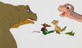 Animation Art:Production Cel, The Land Before Time Spike, Pietre, Ducky and Little FootProduction Cel Setup (Sullivan Bluth/Amblin, 1988)....