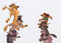 Animation Art:Production Cel, All Dogs Go to Heaven Charlie, Itchy and Gang Production Cel (Amblin/Bluth, 1989)....