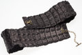 "Luxury Accessories:Accessories, Alexander McQueen Matte Black Crocodile Belt. Very GoodCondition. 3.5"" Width x 38"" Length. ..."