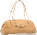 """Luxury Accessories:Bags, Judith Leiber Shiny Beige Crocodile Tote Bag with Gold Hardware. Very Good to Excellent Condition. 15"""" Width x 6"""" Heig..."""