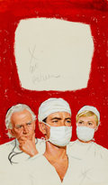 Original Comic Art:Covers, Medical-Themed Painted Paperback Cover Original Art (undated)....