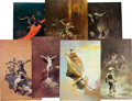 Memorabilia:Poster, Frank Frazetta Fantasy Classics Poster Group (various). ... (Total:21 Original Art)