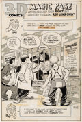 Original Comic Art:Splash Pages, Norman Maurer Three Stooges 3-D Splash Page Original Art(St. John, 1953)....