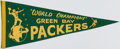 Football Collectibles:Others, Circa 1967 Green Bay Packers Pennant....