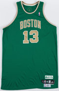 Basketball Collectibles:Uniforms, 2009-10 Sheldon Williams Game Worn Boston Celtics St. Patrick's DayJersey - MeiGray....