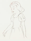 Animation Art:Production Drawing, Snow White and the Seven Dwarfs Snow White Animation Drawing (Walt Disney, 1937). ...
