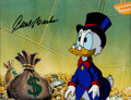 Animation Art:Production Cel, Duck Tales Scrooge McDuck Production Cel and Drawing(Disney, 1987-88)....