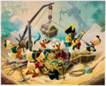 Memorabilia:Disney, Carl Barks Return to Morgan's Island Signed Limited Edition Lithograph Print #217/345 (Another Rainbow, 1990).... (Total: 2 Items)