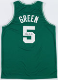 Basketball Collectibles:Uniforms, Gerald Green Signed Boston Celtics Jersey....