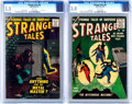 Golden Age (1938-1955):Science Fiction, Strange Tales #43 and 56 CGC-Graded Group (Atlas/Marvel,1956-57).... (Total: 2 Comic Books)