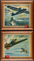 "Movie Posters:War, Coca-Cola World War II Fighter Planes (Coca-Cola, 1943). FramedPosters (6) (14.75"" X 16.75""). War.. ... (Total: 6 Items)"