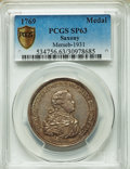 German States:Saxony, German States: Saxony. Friedrich August I silver Medal 1769 SP63 PCGS,...