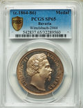 German States:Bavaria, German States: Bavaria. Ludwig II silver Medal ND (c.1864-86) SP65PCGS,...