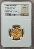 Ancients:Byzantine, Ancients: Phocas (AD 602-610). AV solidus (4.48 gm)....