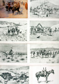 Books:Prints & Leaves, Frederic Remington, American painter (1861 - 1909). Group ofThirty-Four Modern Prints after Works by Remington. Various pub...