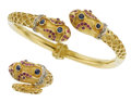 Estate Jewelry:Suites, Sapphire, Ruby, Diamond, Gold Jewelry Suite. ...