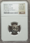 Ancients:Greek, Ancients: THRACE. Istrus. Ca. 4th Century BC. AR drachm (5.75gm)....