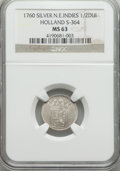Netherlands East Indies, Netherlands East Indies: Dutch Colony. Holland silver 1/2 Duit 1760MS63 NGC,...