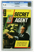 Silver Age (1956-1969):Adventure, Secret Agent #1 File Copy (Gold Key, 1966) CGC NM 9.4 Of-white to white pages. Patrick McGoohan photo front and back cover. ...