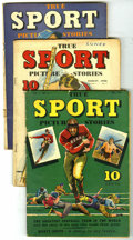 Golden Age (1938-1955):Non-Fiction, True Sport Picture Stories Group (Street & Smith, 1942-43).Four comics in this group include: V1#7 (GD), V1#9 (VG-), V1#11 ...(Total: 4 Comic Books)